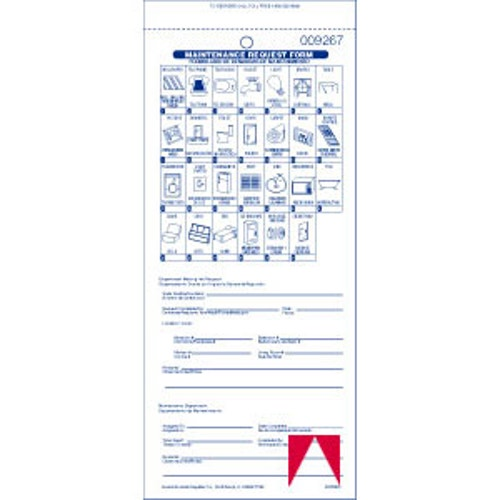 Registry Maintenance Form, English/Spanish with Pictograms