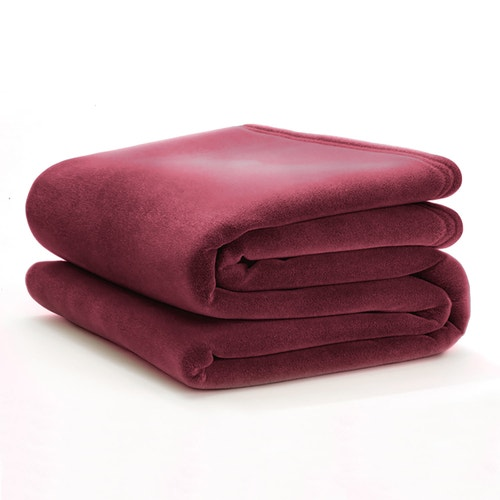 Martex By WestPoint Hospitality Vellux Blanket Cranberry Twin