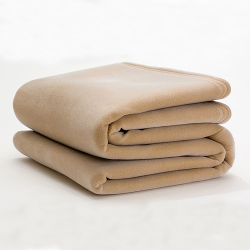 WestPoint Hospitality Martex Vellux Blanket Tan Twin
