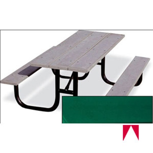 Fabulous Picnic Table W Recycled Plastic 6 L Green Evergreenethics Interior Chair Design Evergreenethicsorg