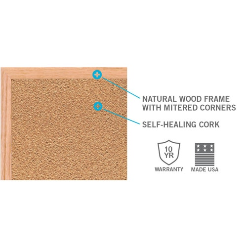 Corkboards, Ghent, Wall-Mount, Wood Frame, 36