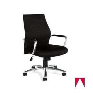Offices To Go Mesh High-Back Polished Manageru0027s Chair Arms 24  L x 23.5  W x 41  H Black   Task Chairs   Ergo and Desk Seating   Furniture   Furniture ...  sc 1 st  American Hotel & Offices To Go Mesh High-Back Polished Manageru0027s Chair Arms 24