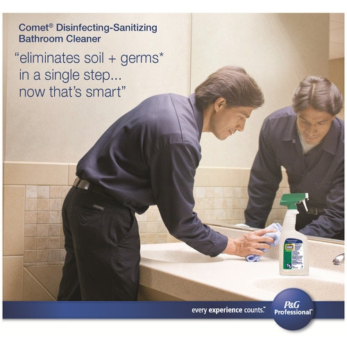 Comet Professional Multi Purpose Disinfecting Sanitizing Liquid Bathroom Cleaner Ready To Use Refill For Commercial Use 1 Gal Dilution Systems And Dispenses Cleaning Chemicals Chemicals Housekeeping And Janitorial