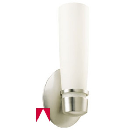 American Fluorescent Aria Wall Sconce Light Fixture White Gl Diffuser Oil Rubbed Bronze Finish Metal