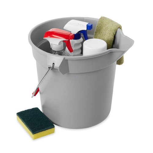 Outstanding Rubbermaid Commercial Products Brute Bucket 10 Qt Gray Caraccident5 Cool Chair Designs And Ideas Caraccident5Info