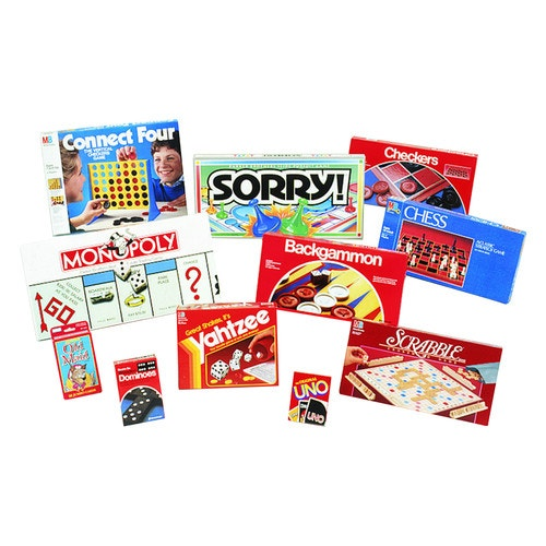 Board Game Set, Uno, Checkers, Dominoes, Chess, Connect Four, Sorry,  Scrabble, Monopoly, B