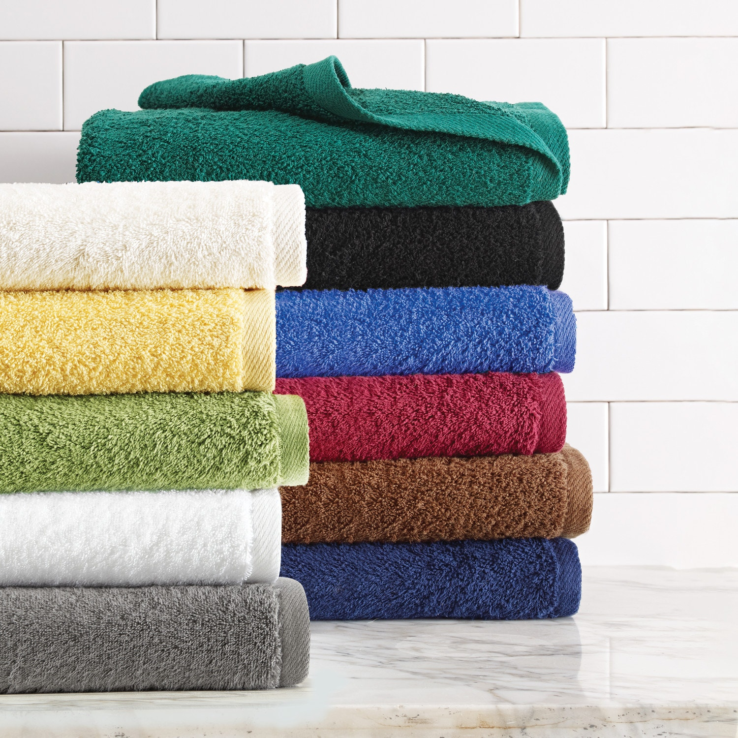 Size 12x12 6 Colors American Mills 12-Pack 100/% Cotton Wash Cloths