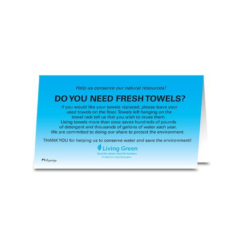 Registry Need Fresh Towels Tent Sign Door Hanger Signs