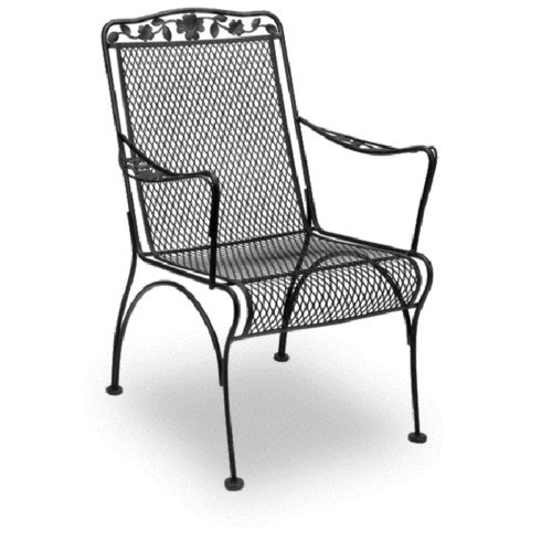 Chair Meadowcraft Wrought Iron Dining Mesh High Back Dogwood And Cast Aluminum Outdoor Furniture Fitness