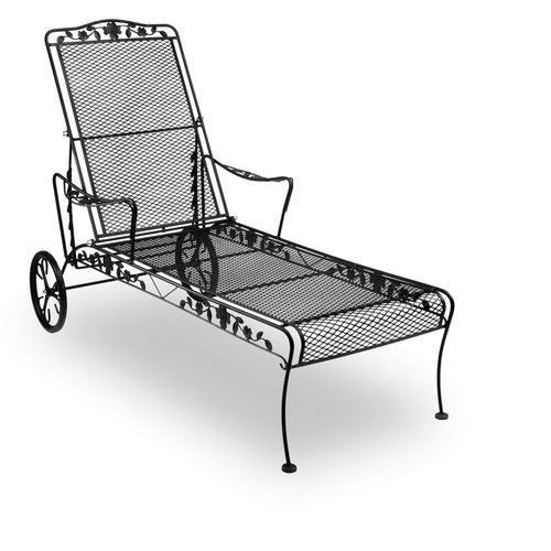Chaise Meadowcraft Wrought Iron Mesh Dogwood Outdoor Chaises Furniture And Fitness Fixtures Equipment Open