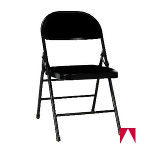 Groovy Folding Chair Steel Padded Seat 30 25 Inch H X 18 25 Inch W X 19 5 Inch D Black Vinyl Black Frame Theyellowbook Wood Chair Design Ideas Theyellowbookinfo